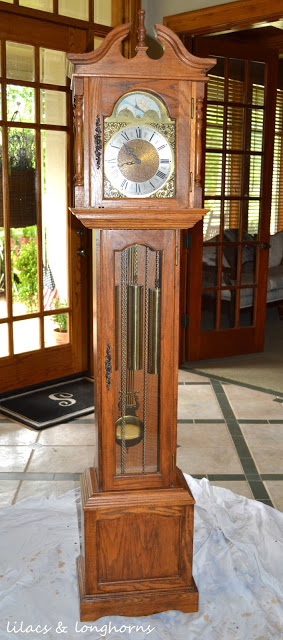 A Grandfather Clock Makeover and a Little History - Lilacs ...