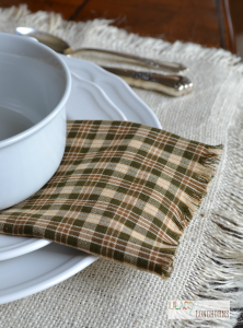 fall no sew napkin