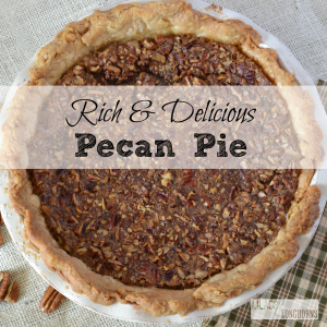 rich and delicious pecan pie