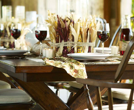 Creating a pottery barn inspired fall tablescape lilacs for Pottery barn thanksgiving
