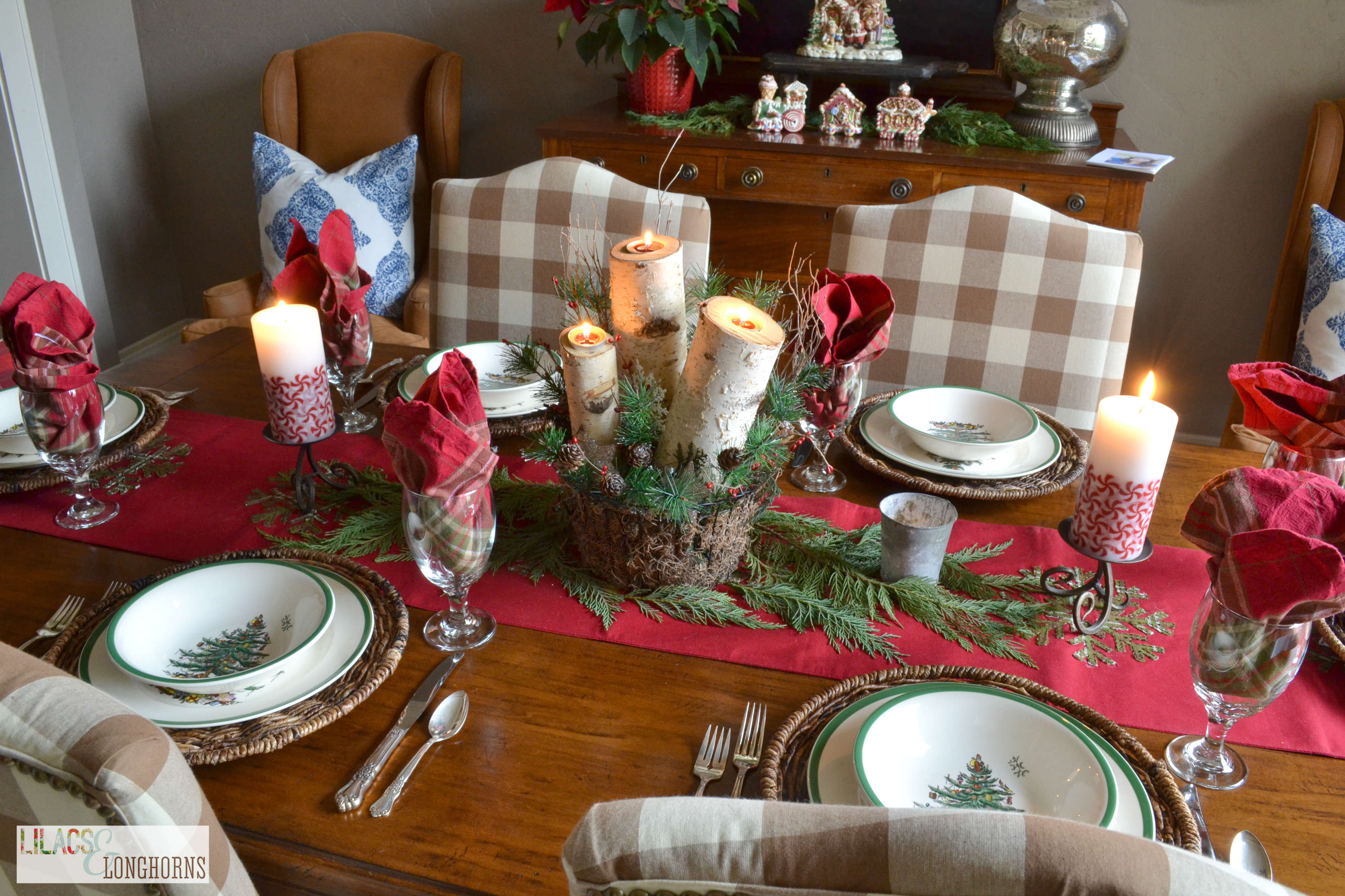 Christmas Dining Room and Last Minute Preparations - Lilacs and ...