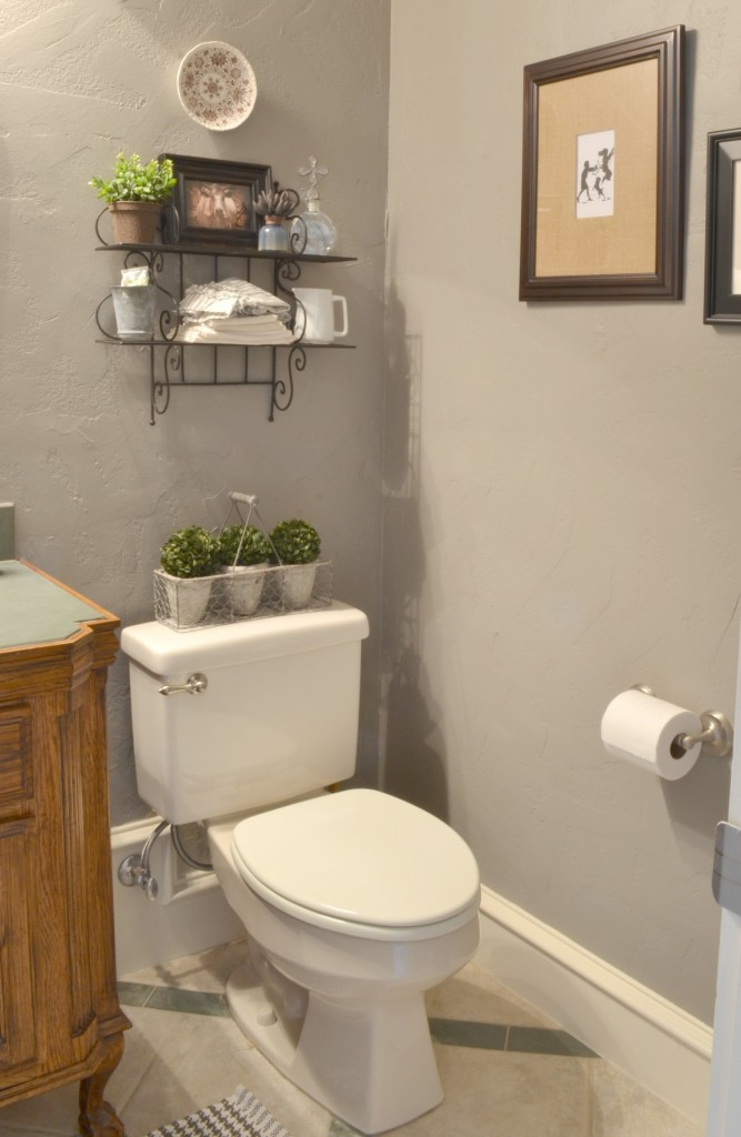 Powder bath makeover kind of lilacs and for What type paint for bathroom