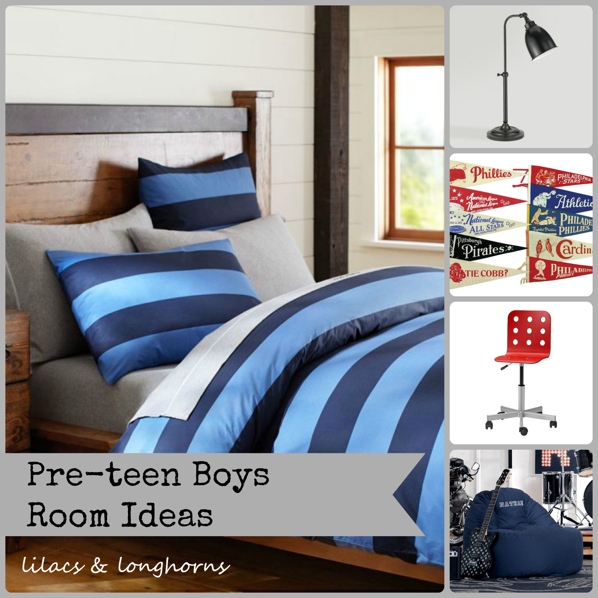 Pre teen boys room getting started lilacs and for Male teenage bedroom ideas