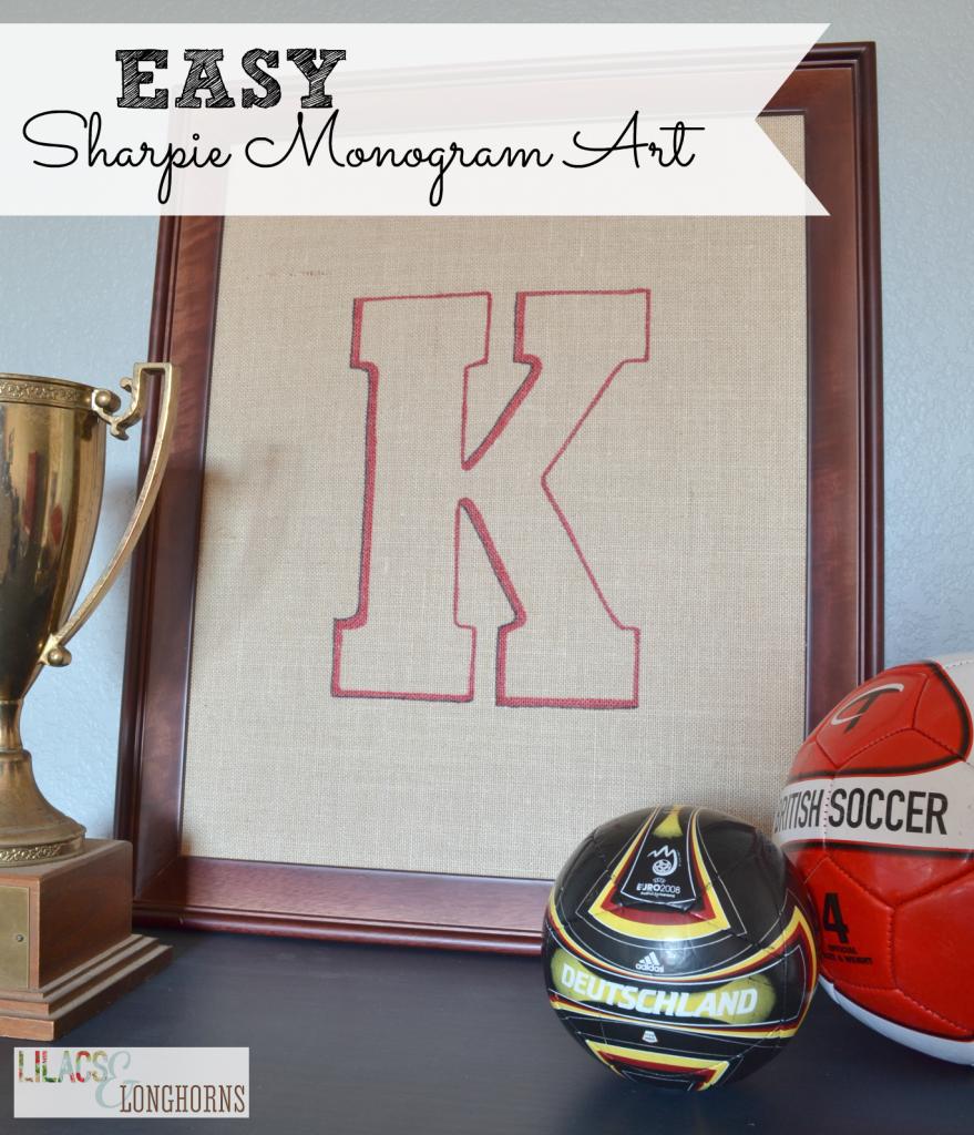 easy sharpie monogram art