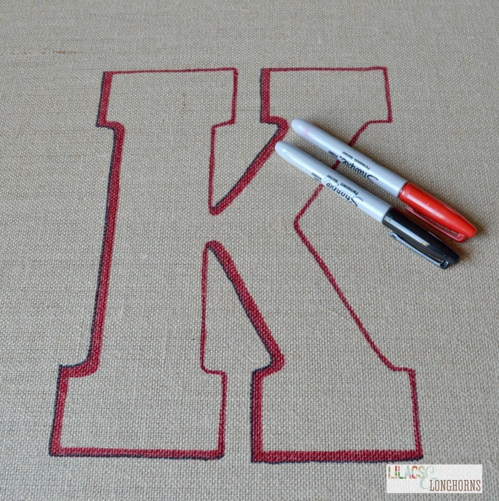 sharpie monogram