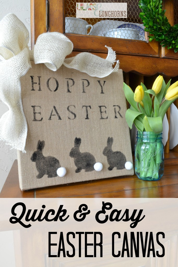 quick and easy Easter canvas