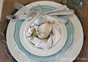 Bird's Nest Napkin Place Setting