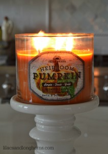 pumpkin scented candle
