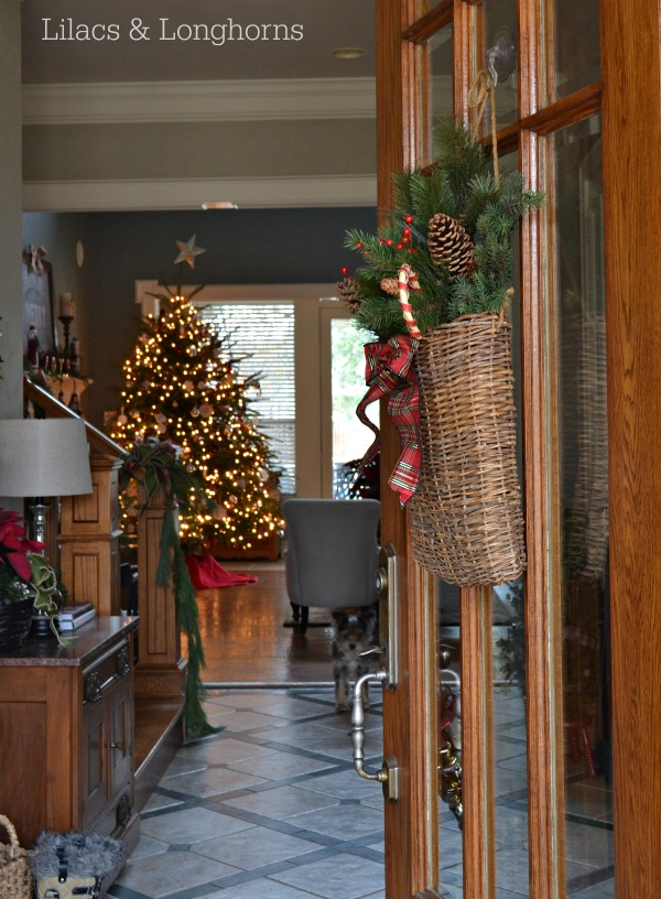 Open Front Door Welcome welcome home christmas tour - my home tour part 1 - lilacs and