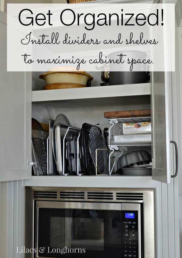 Maximizing Kitchen Cabinet Space Get Organized Lilacs And LonghornsLilac