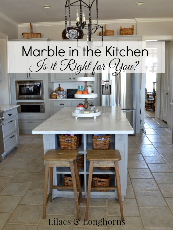 marble counters in the kitchen