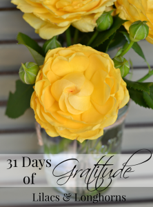 31 Days of Gratitude helps bring contentment and joyful living.