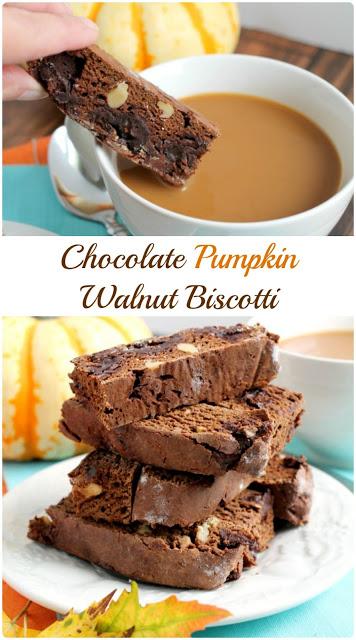 chocolate pumpkin walnut biscotti