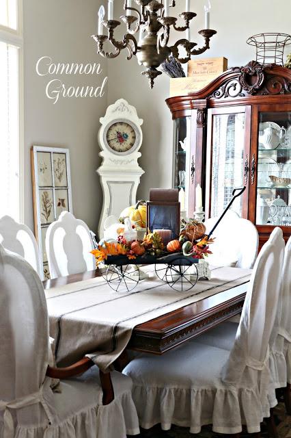 Thanksgiving table top vignette