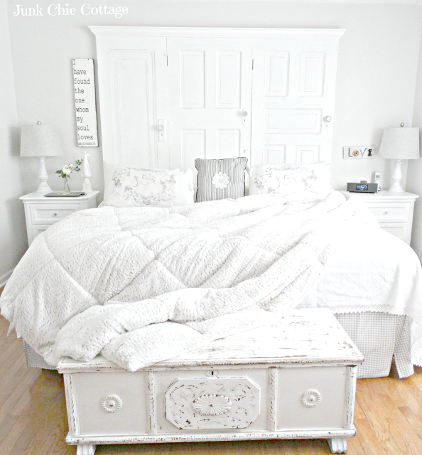 white bedroom Junk Chic Cottage