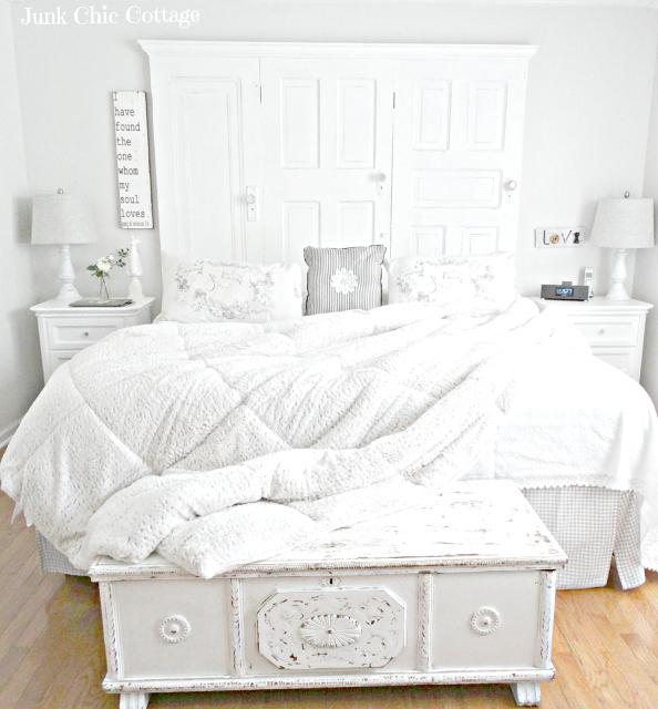 white bedroom Junk Chic Cottage