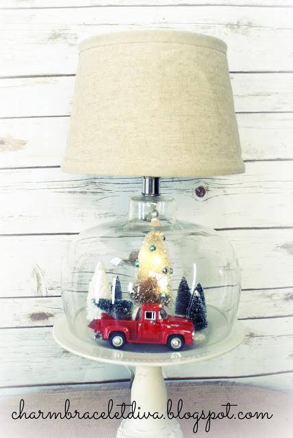 vintage inspired Christmas lamp