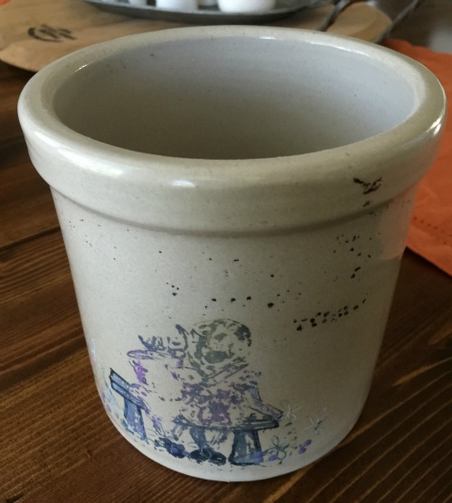 old crock from thrift store