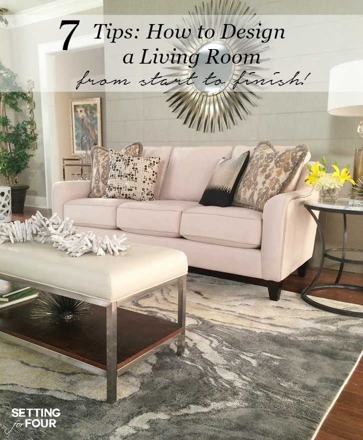 How to design a living room