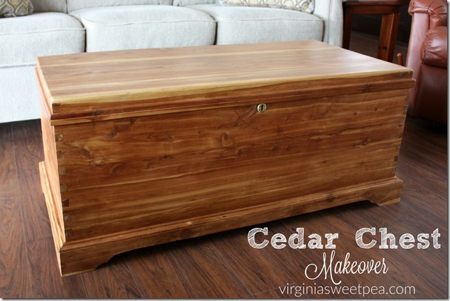 Cedar chest makeover by Sweet Pea shared at Share It One More Time 19