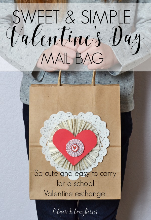 easy to carry Valentine's Day mail bag craft