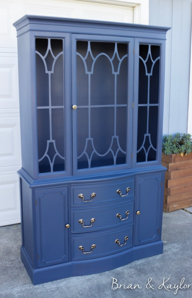 Naval China cabinet by Brian and Kaylor shared at Share It One More Time 19