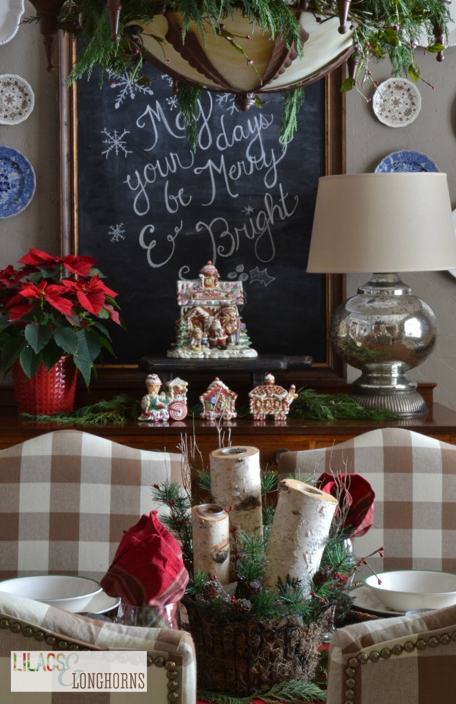 Christmas chalk board