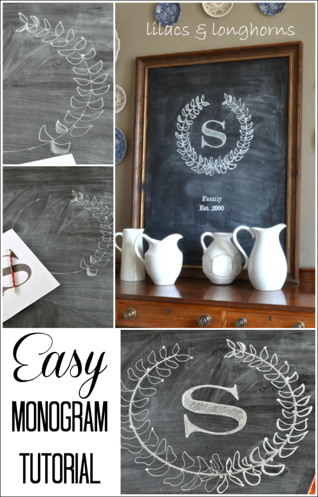 easy monogram tutorial