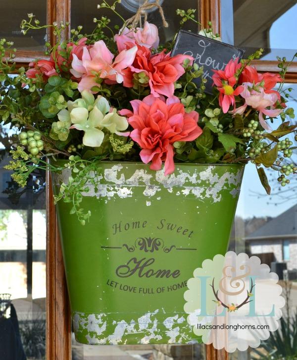 spring floral door decor
