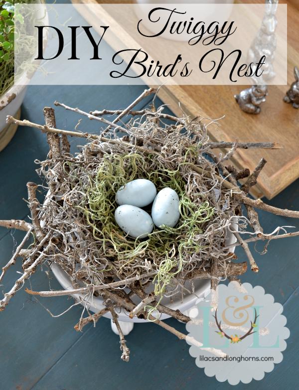 DIY Twig Bird Nest by Lilacs & Longhorns | Guest Post at The Everyday Home | www.everydayhomeblog.com