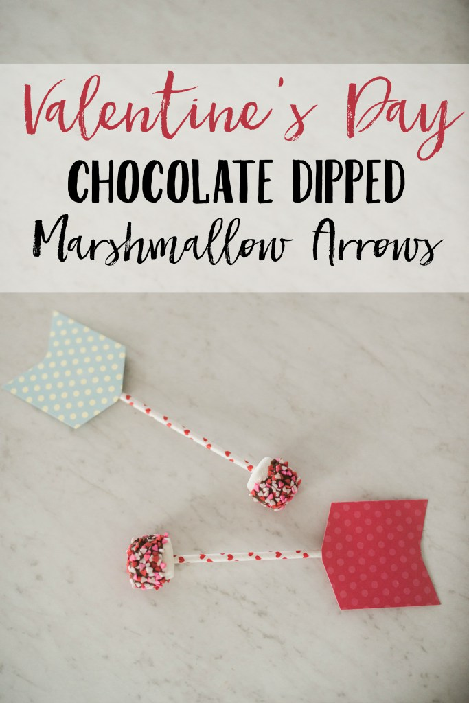 Valentine's Day Chocolate dipped marshmallow arrows by Lauren McBride shared at Share It One More Time 19