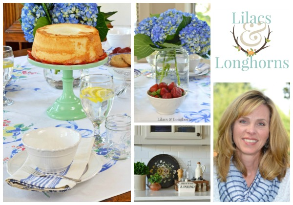 Lilacs and Longhorns blog tablescape